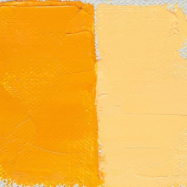 peinture à l'huile Jaune orange