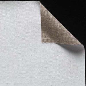 Toile pur lin - Enduction universelle 2 couches - Grain moyen - cf 120