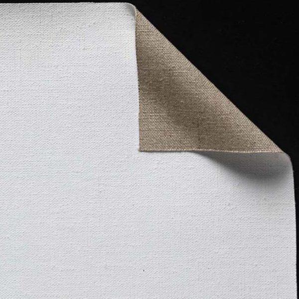 Toile pur lin. Enduction universelle 2 couches - Grain fin - cf 141