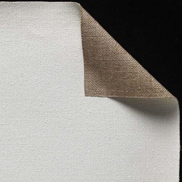 Toile pur lin - Enduction huile 2 couches - Grain moyen - cf 22