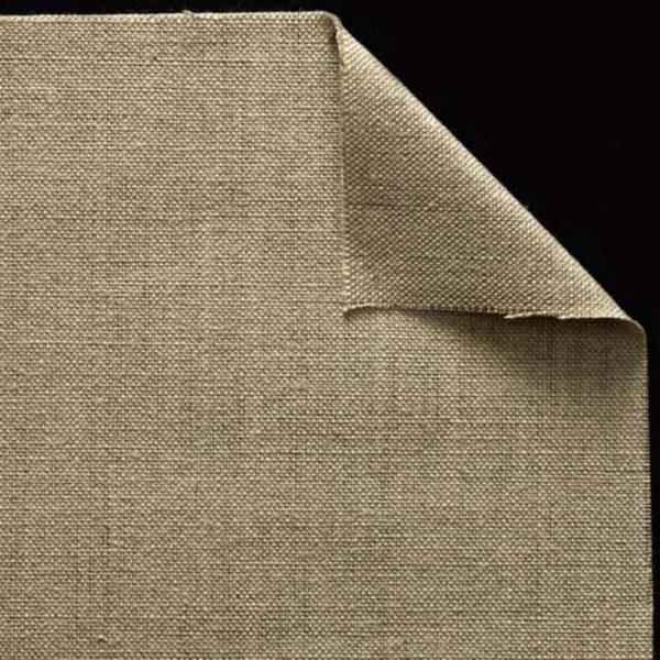 Toile vierge pur lin - Non encollée - Grain moyen - cf 91