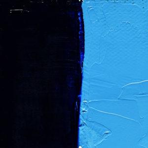 peinture à l'huile bleu cyanine lumière