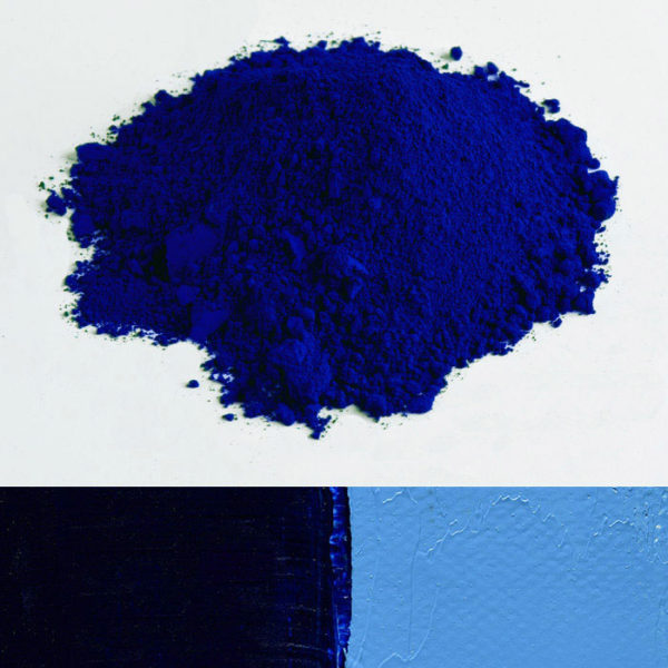 pigment bleu phtalocyanine lumière